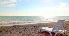 Море и пляж на базе отдыха Уют